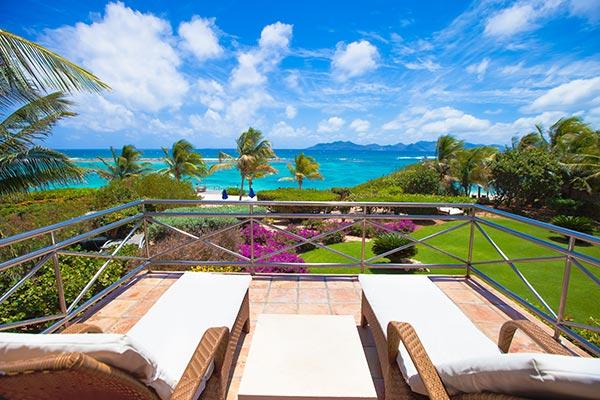 Exquisite views of the Sea and St. Barts and St. Martin from this villa, sheltered by Cinnamon Reef. LHE IND - Image 1 - Little Harbour - rentals