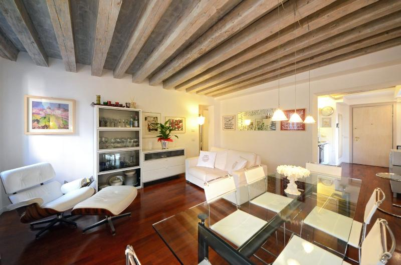 contemporary style furniture in the living room of the Foscarina apartment - Foscarina - Venice - rentals