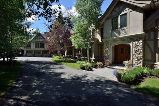 Front exterior of the home  - Big Wood Drive South #160, Ketchum -Air Conditioned Luxury Home in upscale neighborhood - Ketchum - rentals