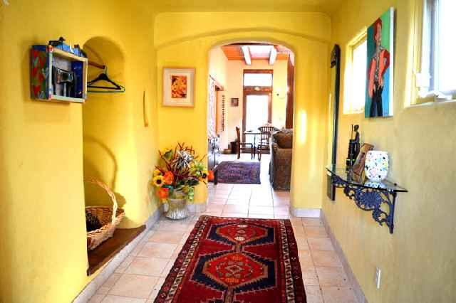 Foyer and entry hall entering Juniper Springs main house - Juniper Springs Main House - Taos - rentals