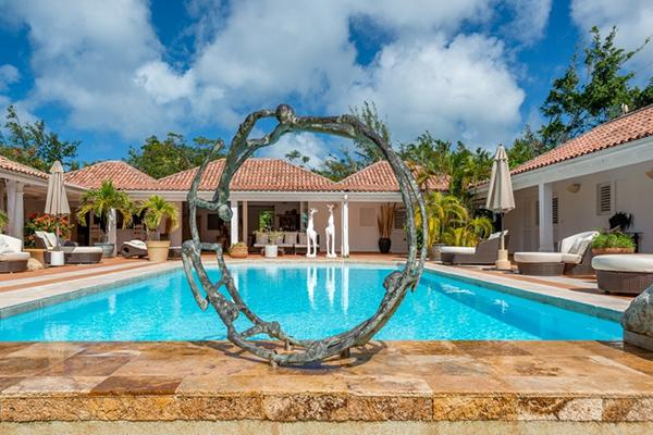 Creole- style villa with sunset views and pool. C LAP - Image 1 - Terres Basses - rentals