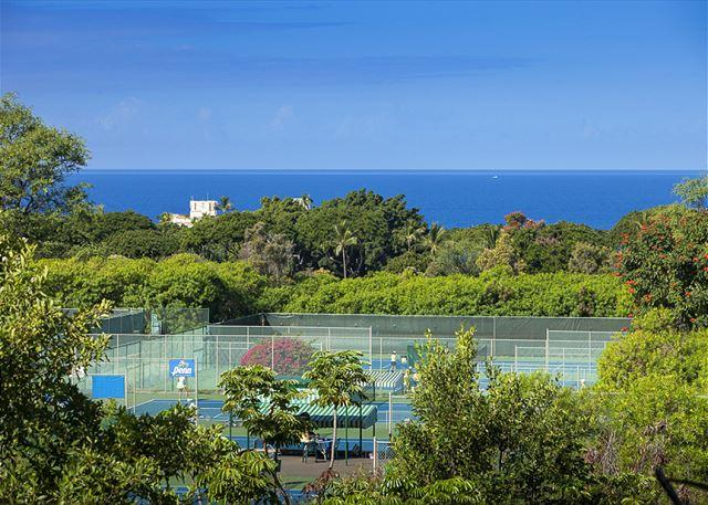 Ocean view from the lanai of unit #51 - Grand Champions #51 is a 2Bd 2Ba is a large condo that sleeps 6. Great Rates! - Wailea - rentals