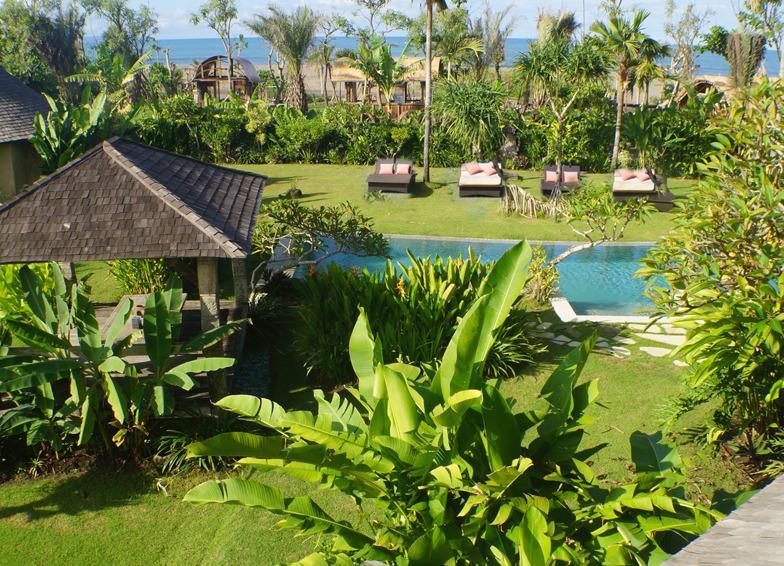 3400 Square meters of lush garden with Indian Ocean vistas - Beachfront luxury, Seminyak 7/3 Bedroom Villas - Canggu - rentals