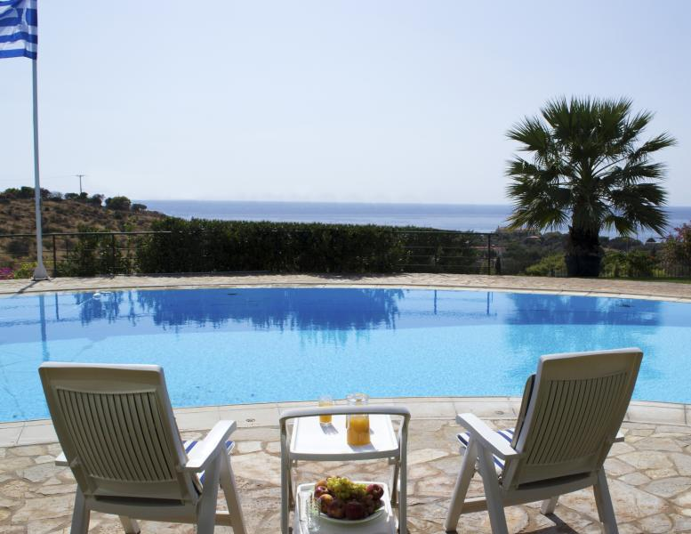 Luxury Villa With Breathtaking Views Of The Most G - Image 1 - Sounio - rentals