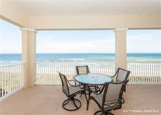 The spectacular balcony view - 561 Cinnamon Beach, 6th Floor Penthouse, Huge Corner Unit, Wifi - Palm Coast - rentals