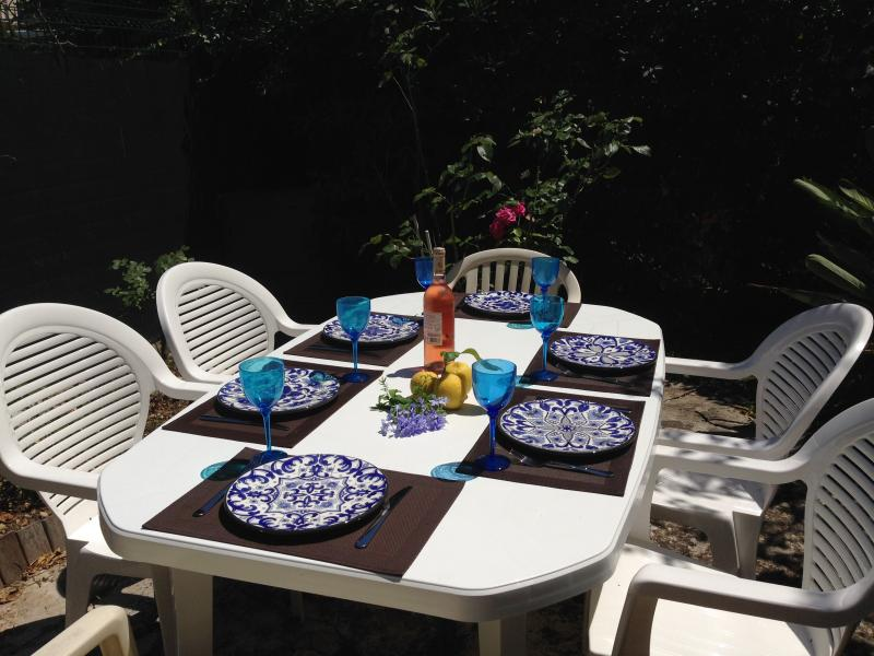 Sunny garden private dining area - Cannes 3 Bedrooms Flat  WiFi, 15 min to the Pal - Cannes - rentals