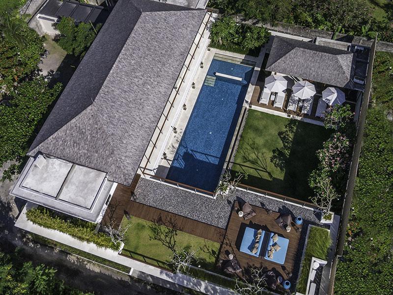 Cendrawasih - Aerial shot - Villa Cendrawasih - an elite haven - Seminyak - rentals
