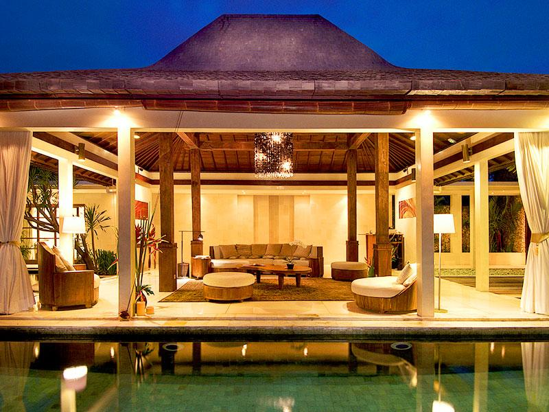 Villa Kubu 999 - Living pavilion at night - Villa Kubu 999 - Seminyak - rentals