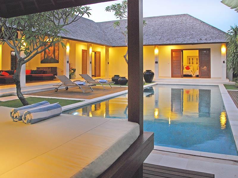 Villa Sadewa - Bale view of villa at dusk - Villa Sadewa - an elite haven - Canggu - rentals
