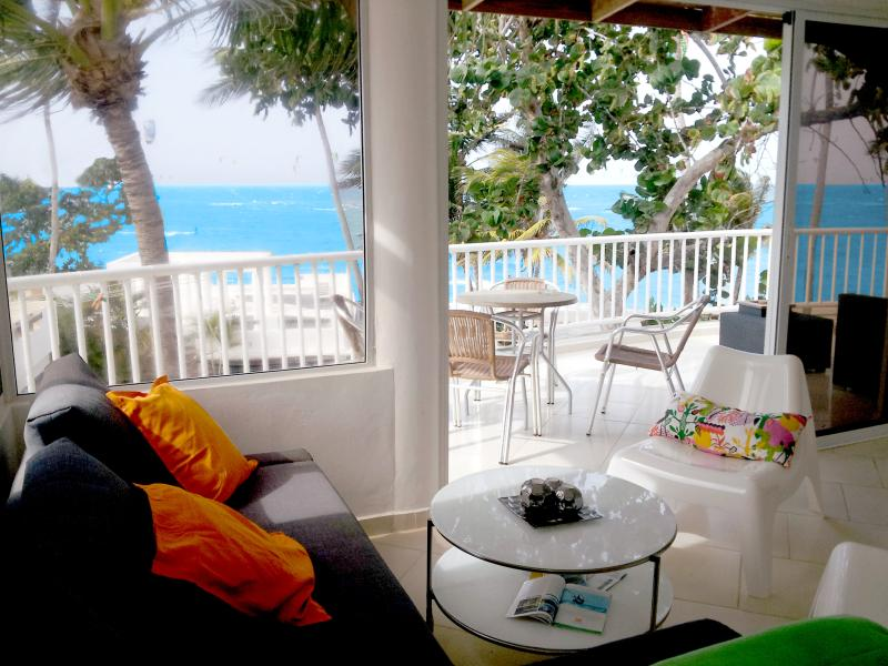 Penthouse with 37' (12 meter) FULL beach front balcony - WIDEST balcony 37' (12 m) on Windy Kitebeach - Cabarete - rentals