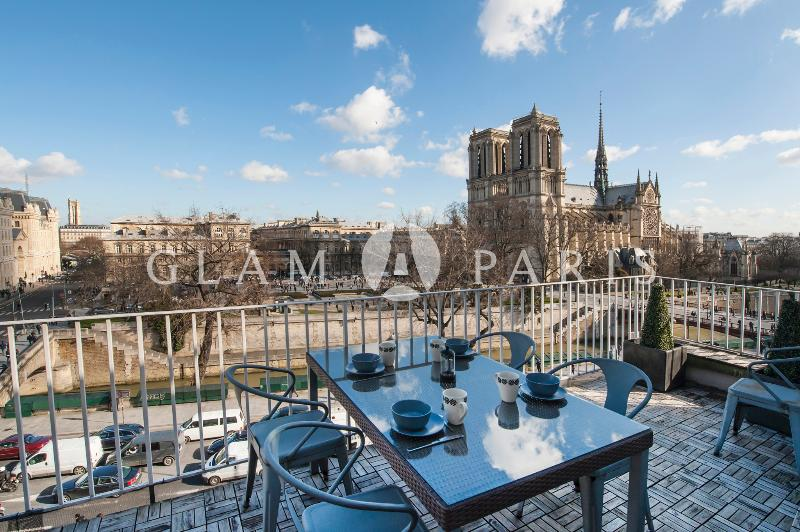 View on Notre Dame from the main terrace - 2BR on the Seine with breathtaking views - Paris - rentals