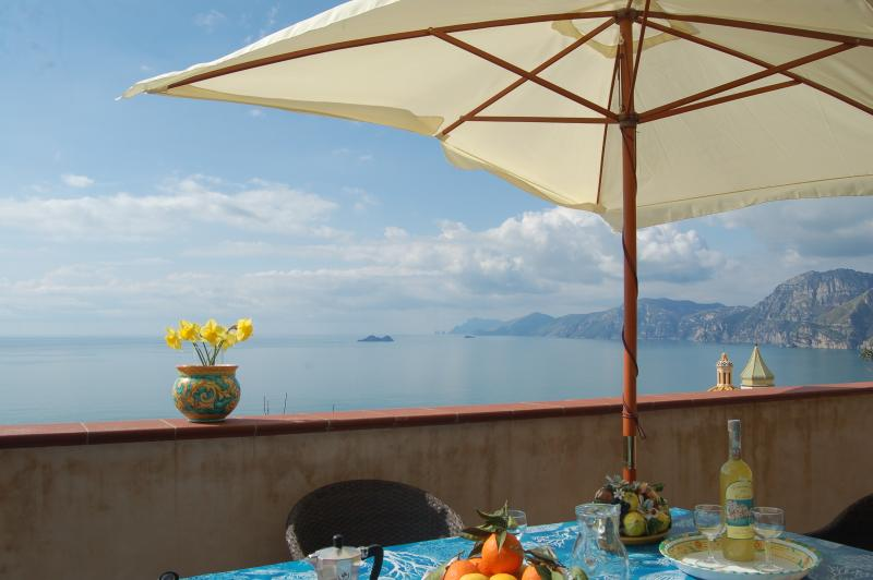 view on Li Galli island - Casa dei Fiori with sea view - Amalfi coast - Praiano - rentals