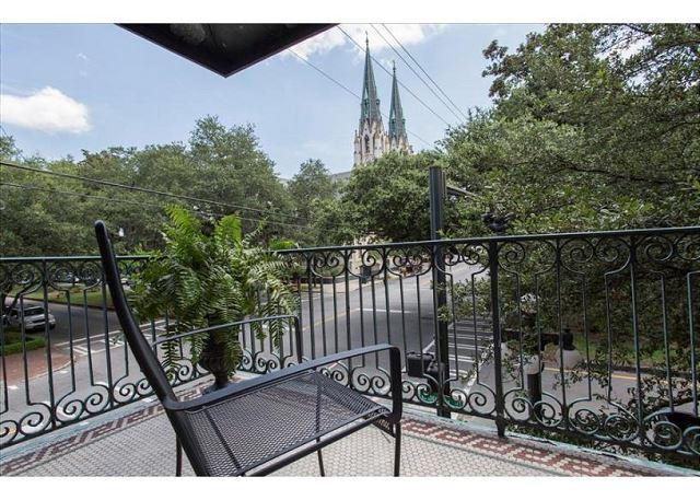 Spacious two bedroom with a private balcony overlooking Liberty Street - Image 1 - Savannah - rentals