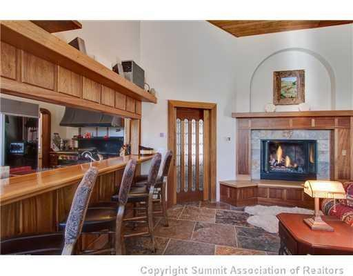 Breckenridge Family Retreat great room with kitchen bar and hearth - Breckenridge Family Retreat - Dillon - rentals