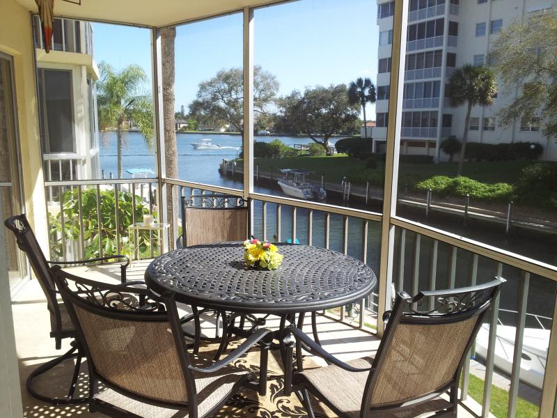 Lanai looking over Intercoastal Water - Siesta Harbour 55+ Condo with a View of Intracoast - Siesta Key - rentals