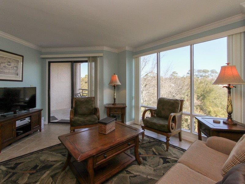 Living Room at 2417 Villamare in Palmetto Dunes - 2417 Villamare - Hilton Head - rentals