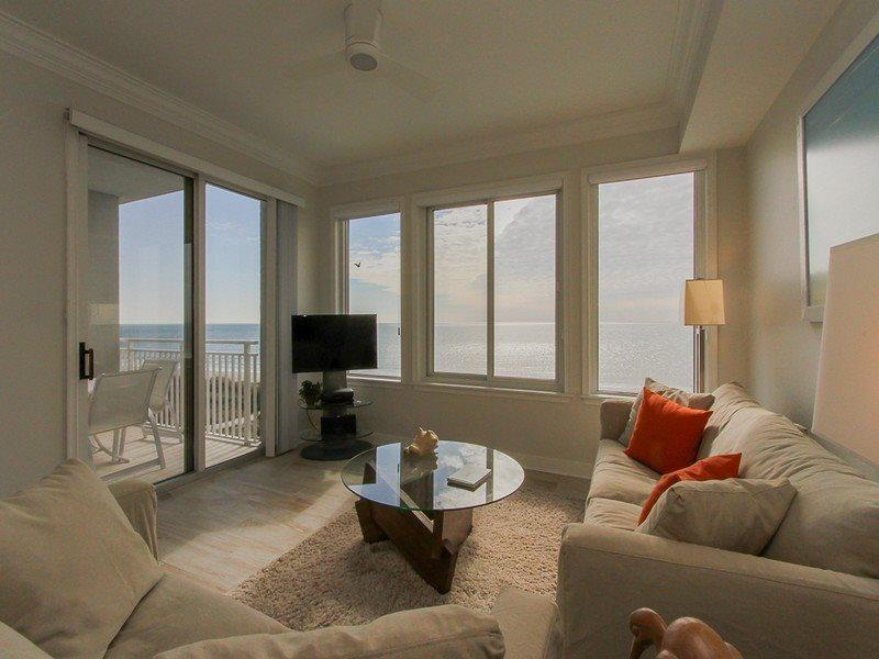 Living Room with Unobstructed Ocean Views at 3402 Sea Crest - 3402 Sea Crest - Hilton Head - rentals