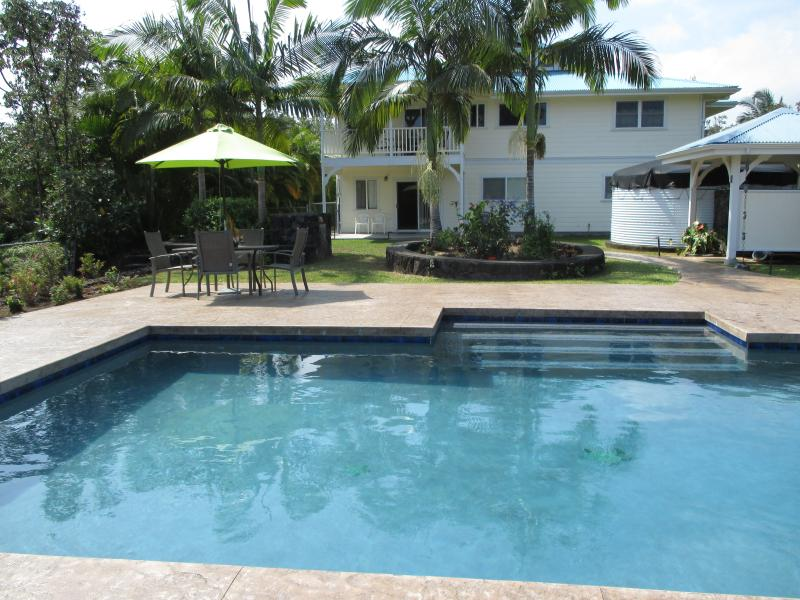 A pool in your back yard. - Custom Home w\POOL 1000 feet from the ocean! - Keaau - rentals