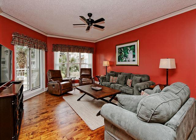 Hampton 6104 - Sensational 1BR/2BA 1st Floor Villa w/ Terrific Oceanview Overlooks Pool - Hilton Head - rentals