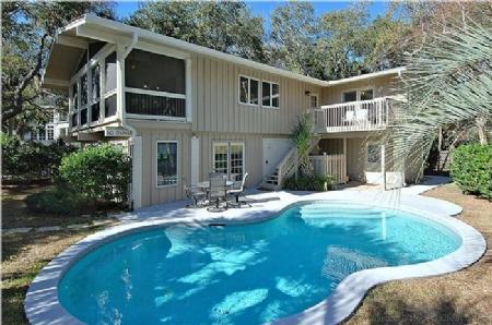 Pool Side - 17 Heron Street - Forest Beach - rentals