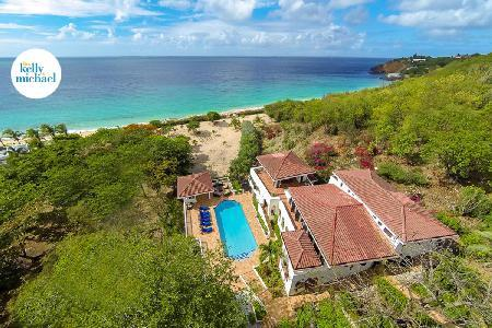 Beachfront Joie de Vivre on 4.4 acres on 3 levels, panoramic views, pool & amazing staff - Image 1 - Baie Rouge - rentals