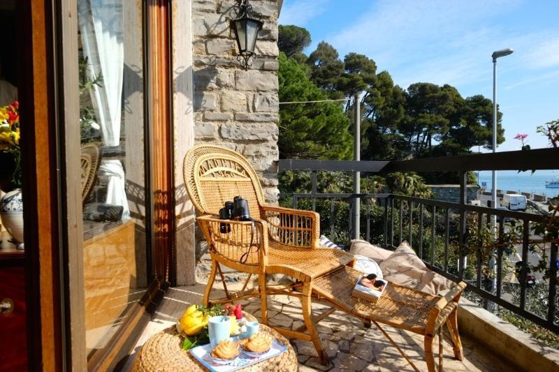 Master bedroom balcony - Casa Aragosta, seaview and garden in Portovenere - Cinque Terre - rentals