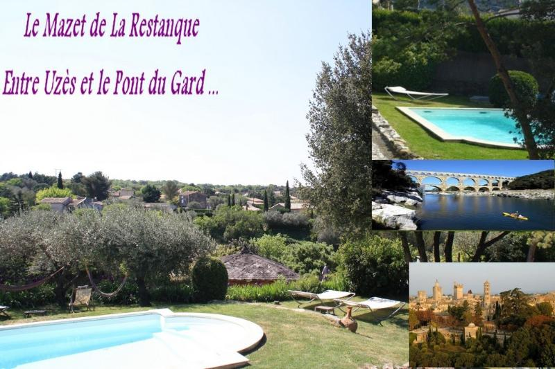 2 self catering accomodations with shared swimming pool : La Restanque (2-3 pers.)... - Uzes & Pont du Gard : 2 Gites +swimmingpool+river - Collias - rentals