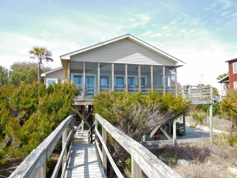 Oceanfront Exterior - Back Home - Folly Beach, SC - 3 Beds BATHS: 2 Full - Folly Beach - rentals