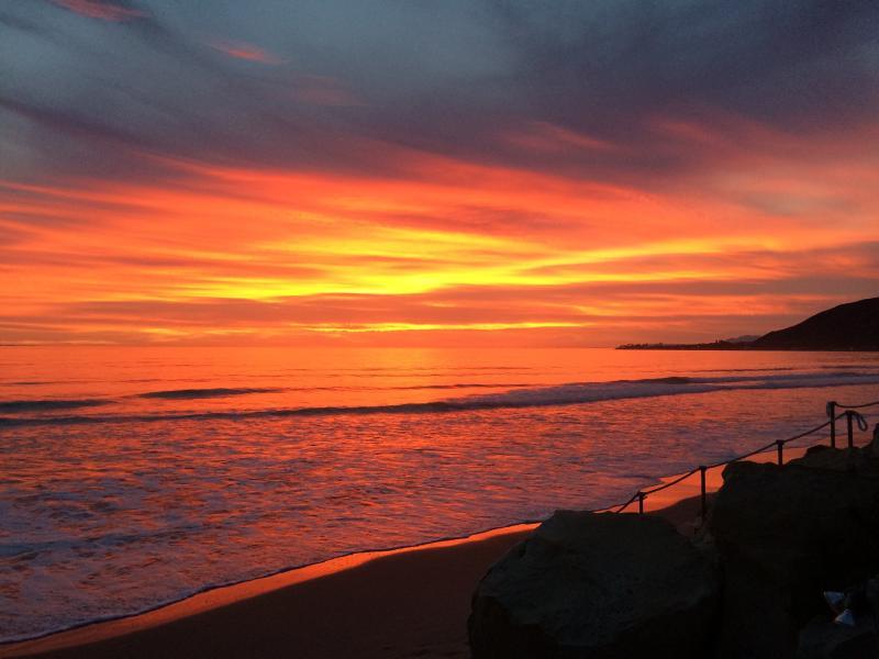Stunning sunset 3-14-15 - Solimar Beach House on the water in Ventura County ( 2 week minimum) - Ventura - rentals
