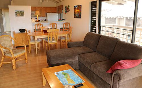 Living room from lanai - Ke Nani Kai 237 - Maunaloa - rentals