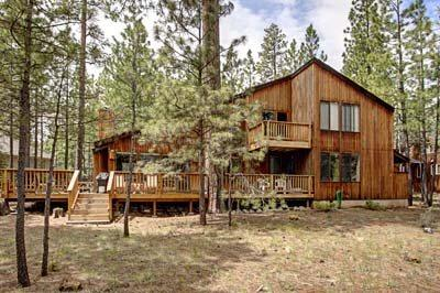 Exterior of home with beautiful deck - SM 146 in Black Butte, close to golf & pools - Sisters - rentals
