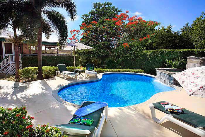 Villa Verandah's fabulous Pool and Waterfall - Villa Verandah in Nevis, Pool and Air/Cond. - Nevis - rentals