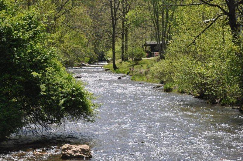 Paradise Valley Lodge on a Broad and  Bold Creek Just Outside of Bryson City, NC - Paradise Valley Lodge - With Fishing Out the Back Door, This Creek Front Rental is Less than 15 minutes to Fontana Lake, Rafting, and Zip Line Canopy Tours - Bryson City - rentals