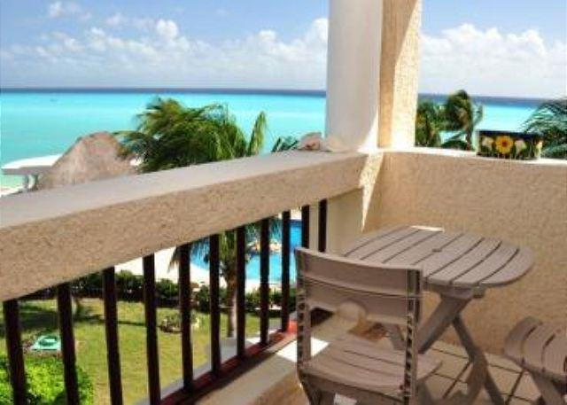 Xaman Ha 7205 terrace - 3rd floor! Oceanfront 2 bedroom in Xaman Ha (XH7205) - Playa del Carmen - rentals