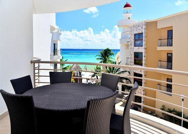 Corto Malte 302 Balcony - Luxurious beachfront condo, 2-bdrm, 2-bath Playa del Carmen (CM302) - World - rentals