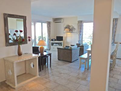 The living area seen from the entranceway - Capri II- Huge 2 Bedroom Condo, Near the Beach - Cannes - rentals
