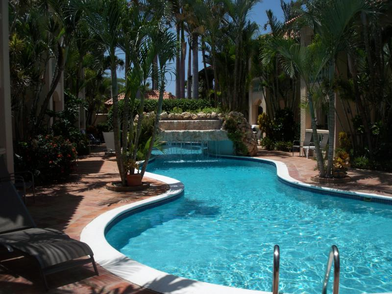 5-Star private, luxury 26 unit complex with large pool & coral waterfall, privacy and tranquility - $200 OFF The Most Reviewed & Highest Rated Condo - Aruba - rentals