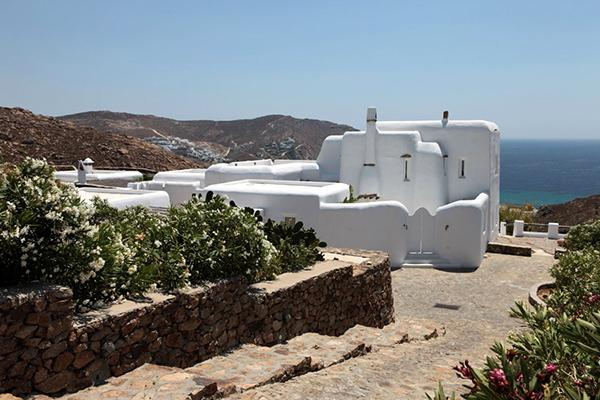 Hilltop property overlooking Agrari Bay. LIV INF - Image 1 - Mykonos - rentals