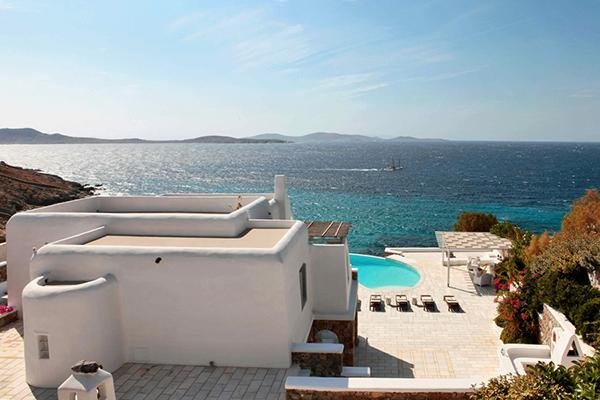 This villa, in the Aleomandra area, faces Delos island for colorful sunset views. LIV SUN - Image 1 - Mykonos - rentals
