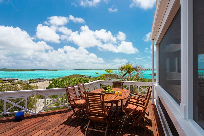 Sun deck with stunning views of Chalk Sound - Private Villa with Private Beach, WhipSpray - Providenciales - rentals