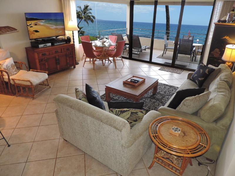 Living Room - Beachfront at Polo Beach Club Wailea-Makena Maui - Wailea - rentals