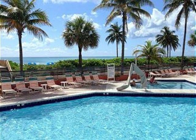 On The Beach Largest One bedroom King Bed 6 guests Oceanfront Heated Pool 741 - Image 1 - Hollywood - rentals
