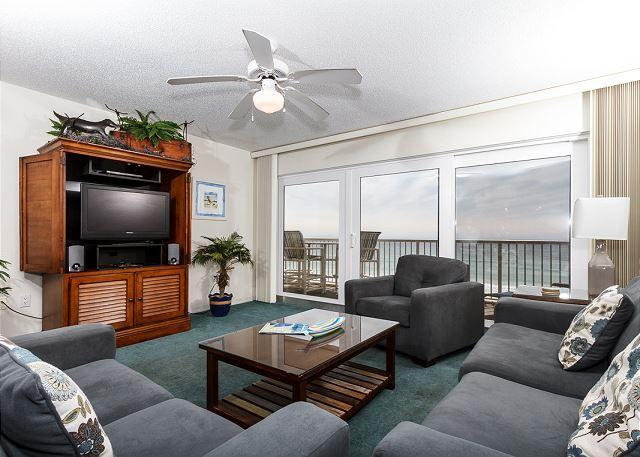 Kick back and relax... Would you just look at that view!! - Condo#5001:Colorful gulf front condo-WiFi,FREE BEACH SERVICE + GOLF included - Fort Walton Beach - rentals