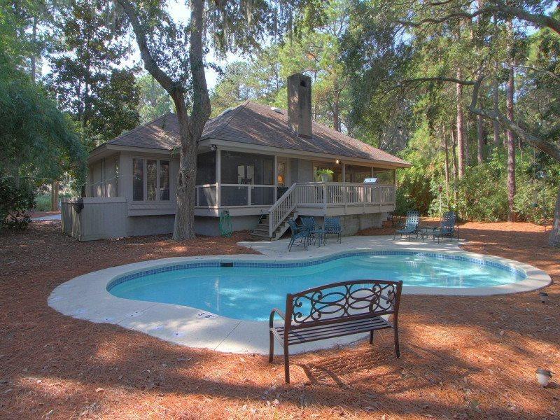 Pool Area at 4 Audubon Pond - 4 Audubon Pond - Sea Pines - rentals