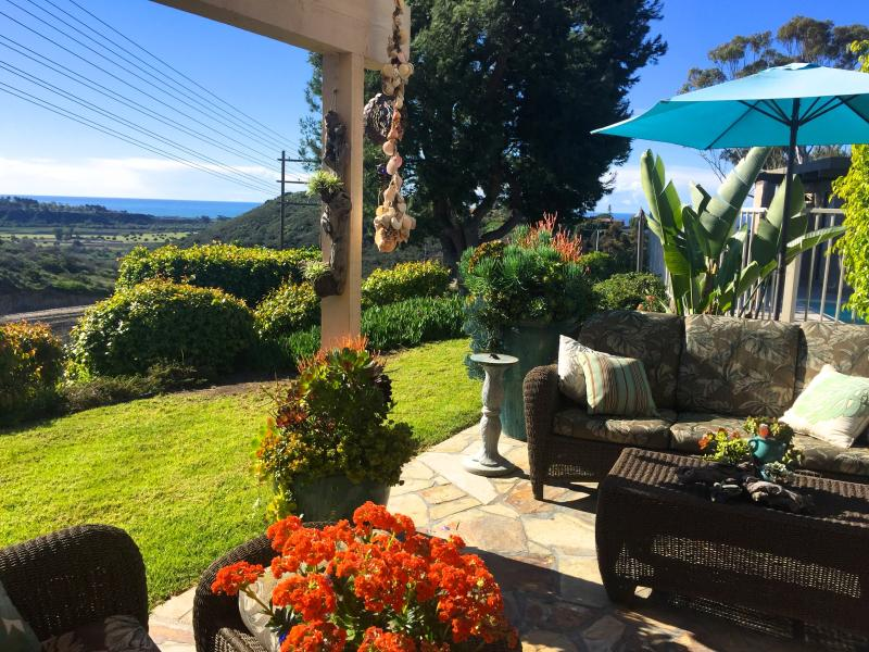Ocean view from patio - San Clemente Tropical Getaway - San Clemente - rentals