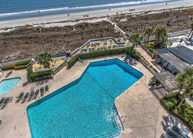 Pool Area - 2403 SeaCrest-4th Floor w/ Ocean View. - Hilton Head - rentals