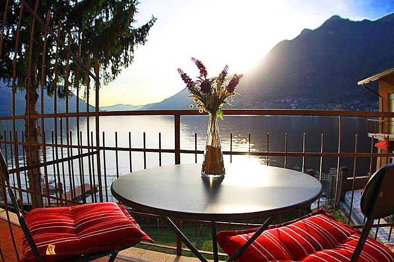 Simply stunning 180 degree Views of Lake Como from private balcony - AMAZING WATERFRONT - Villa Divino - Lakefront View - Pognana Lario - rentals