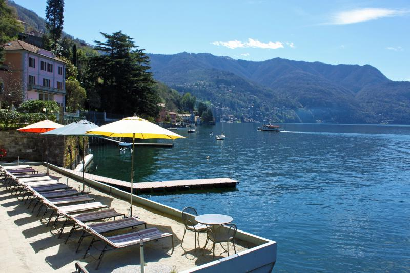 Our Private Sand Lido and Boat Dock for Swimming in the Lake or for just relaxing in the sun. - STUNNING WATERFRONT -  Tranquillita -  Lake Views - Como - rentals