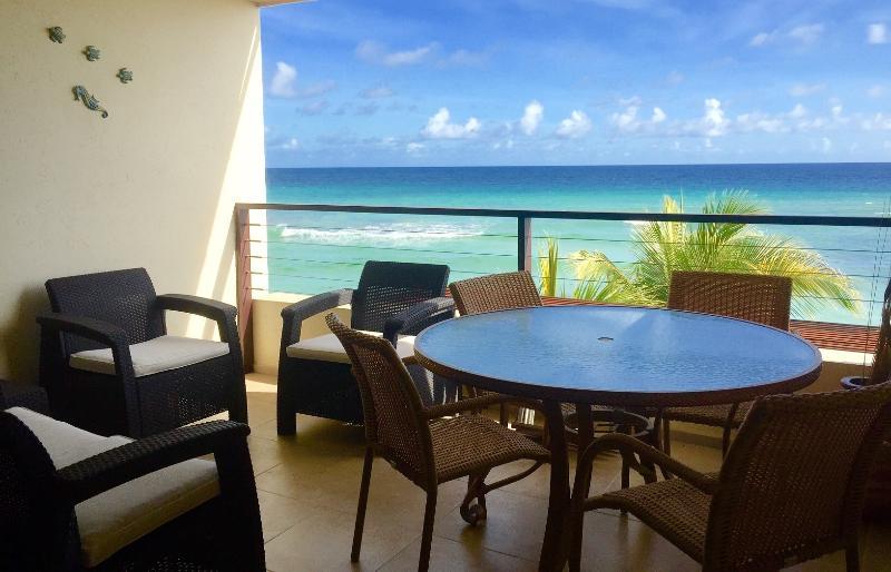 Al-Fresco Dining on the patio - Sunset Beach - St Lawrence Beach Condos - Saint Lawrence Gap - rentals