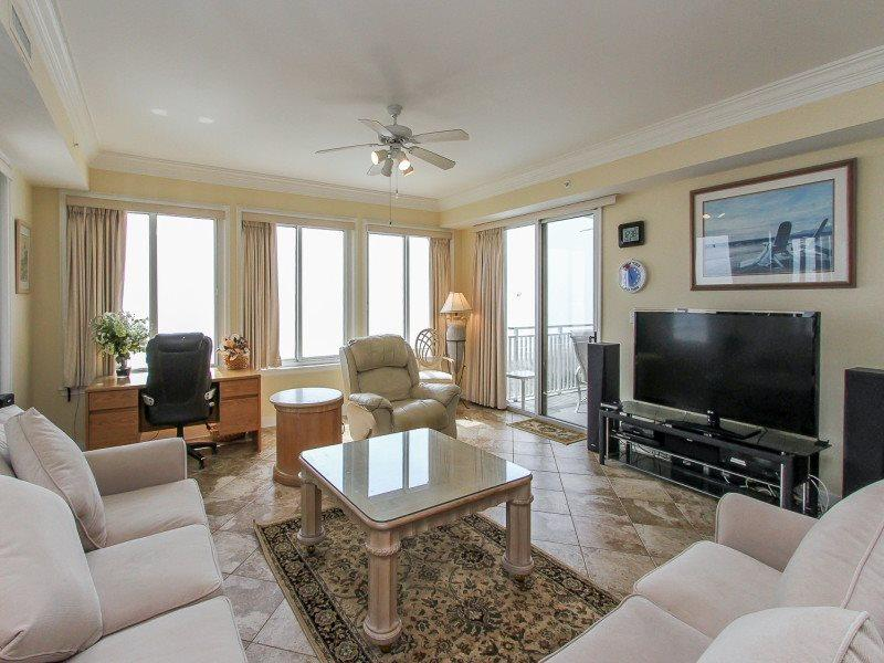 Living Room with Flat Screen at 3403 Sea Crest - 3403 Sea Crest - Hilton Head - rentals